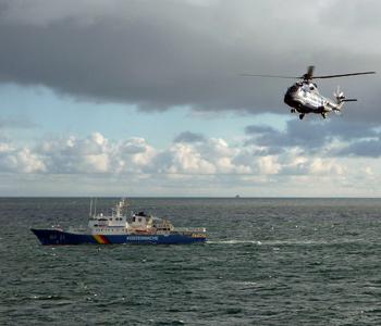 BSH und Bundespolizei trainieren Abwehr eines terroristischen Anschlags auf See