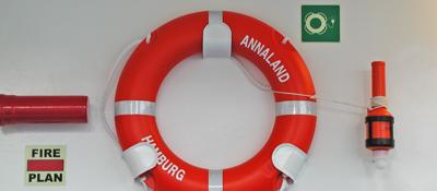 bild ausrüstung zur rettung aus see
