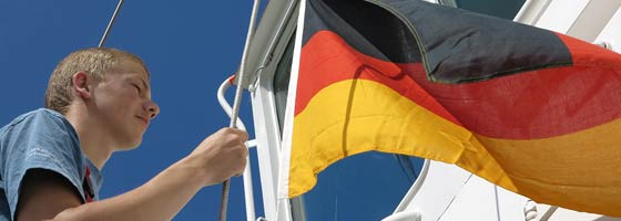 Changing to the German flag