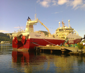 Modern fish trawler brought into service