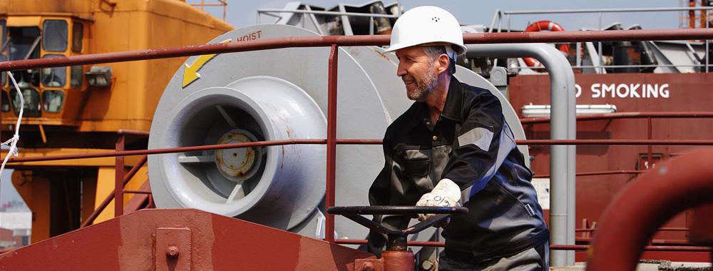 Header Arbeiten auf Tanker GTS